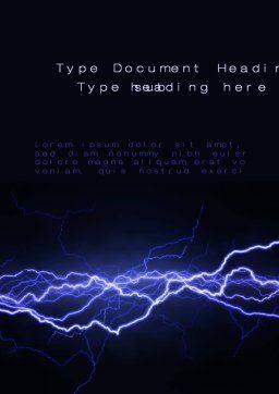 lightning in the night sky word template 10024 poweredtemplate com