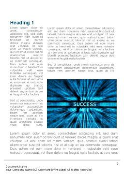 Components Of Success Word Template, First Inner Page, 10029, Business — PoweredTemplate.com