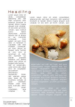 Shells And Starfish Word Template, First Inner Page, 10030, Holiday/Special Occasion — PoweredTemplate.com