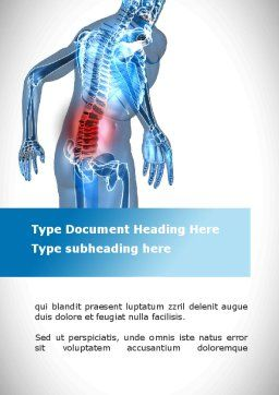 Lumbar Spine Word Template, Cover Page, 10035, Medical — PoweredTemplate.com