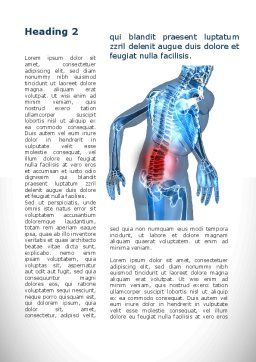 Lumbar Spine Word Template, First Inner Page, 10035, Medical — PoweredTemplate.com