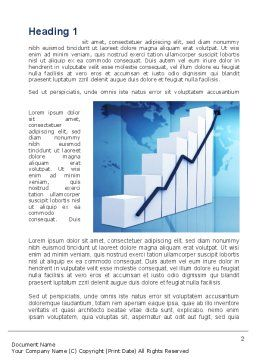 Growth of Indicators Word Template, First Inner Page, 10037, Financial/Accounting — PoweredTemplate.com