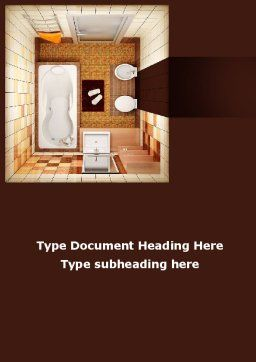 Plan Of Bathroom Word Template, Cover Page, 10038, Construction — PoweredTemplate.com