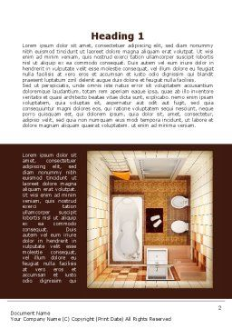 Plan Of Bathroom Word Template, First Inner Page, 10038, Construction — PoweredTemplate.com