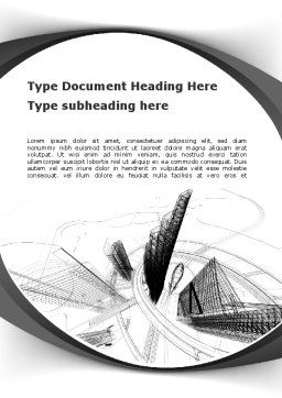 World of Tomorrow Word Template, Cover Page, 10039, Construction — PoweredTemplate.com