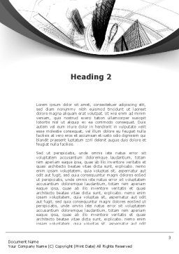 World of Tomorrow Word Template, Second Inner Page, 10039, Construction — PoweredTemplate.com