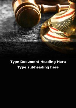 American Justice Word Template, Cover Page, 10041, Legal — PoweredTemplate.com