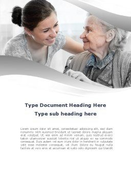 Elderly People Care Word Template Cover Page