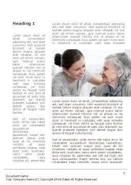 Elderly People Care Word Template First Inner Page