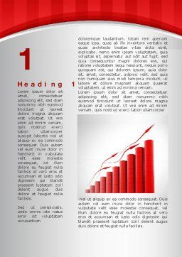 Stable Growth Word Template, First Inner Page, 10044, Careers/Industry — PoweredTemplate.com