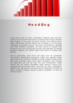 Stable Growth Word Template, Second Inner Page, 10044, Careers/Industry — PoweredTemplate.com
