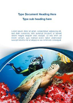 Diving Photo Shooting Word Template, Cover Page, 10048, Sports — PoweredTemplate.com