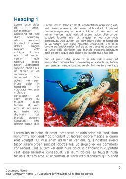 Diving Photo Shooting Word Template, First Inner Page, 10048, Sports — PoweredTemplate.com