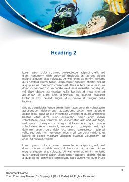 Diving Photo Shooting Word Template, Second Inner Page, 10048, Sports — PoweredTemplate.com