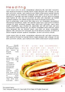 Yummy Hot-Dog Word Template, First Inner Page, 10049, Food & Beverage — PoweredTemplate.com
