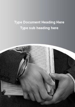 Secure Documents Word Template, Cover Page, 10050, Financial/Accounting — PoweredTemplate.com