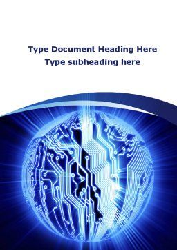 Circuitry Word Template, Cover Page, 10051, Technology, Science & Computers — PoweredTemplate.com