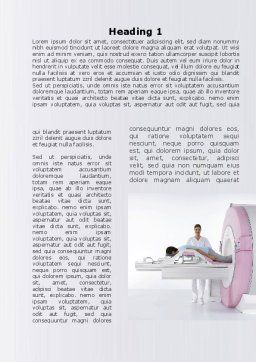 Full Body Scan Word Template, First Inner Page, 10052, Medical — PoweredTemplate.com