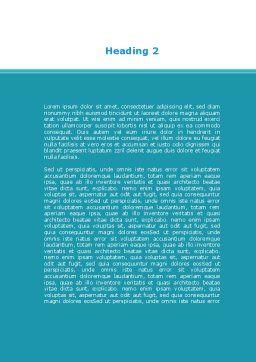 Wide World Jigsaw Word Template, Second Inner Page, 10054, Global — PoweredTemplate.com