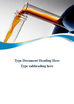 Labs Testing Tubes Word Template Cover Page