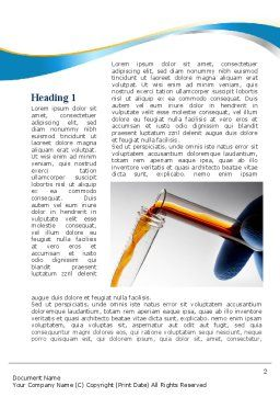 Labs Testing Tubes Word Template First Inner Page