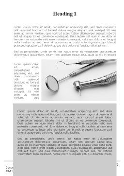 Dental Tools Word Template, First Inner Page, 10056, Medical — PoweredTemplate.com