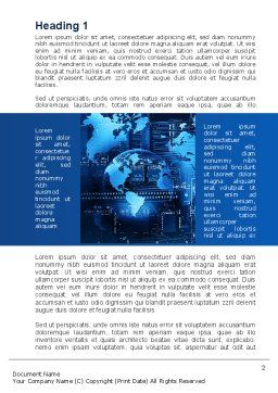 Wide World Computerization Word Template, First Inner Page, 10057, Business — PoweredTemplate.com
