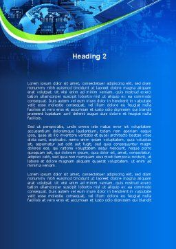 Wide World Computerization Word Template, Second Inner Page, 10057, Business — PoweredTemplate.com