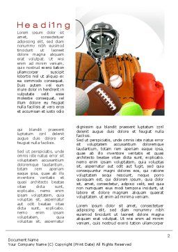 Sports Parenting Word Template, First Inner Page, 10058, Sports — PoweredTemplate.com
