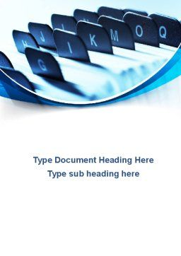 Document Cabinet Word Template, Cover Page, 10061, Business — PoweredTemplate.com