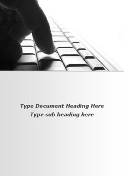 Typing Text Word Template, Cover Page, 10062, Technology, Science & Computers — PoweredTemplate.com
