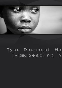 Black Boy Word Template, Cover Page, 10064, People — PoweredTemplate.com