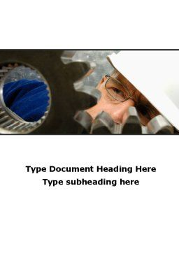Adjusting Gear Transmission Word Template, Cover Page, 10065, Utilities/Industrial — PoweredTemplate.com