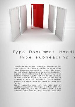 Doorway Word Template, Cover Page, 10066, Consulting — PoweredTemplate.com