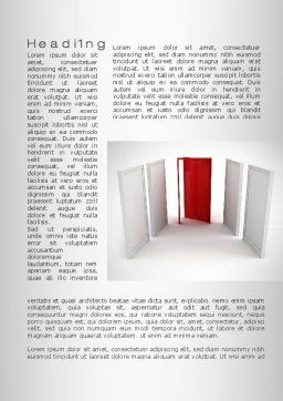 Doorway Word Template, First Inner Page, 10066, Consulting — PoweredTemplate.com