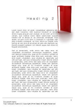 Doorway Word Template, Second Inner Page, 10066, Consulting — PoweredTemplate.com