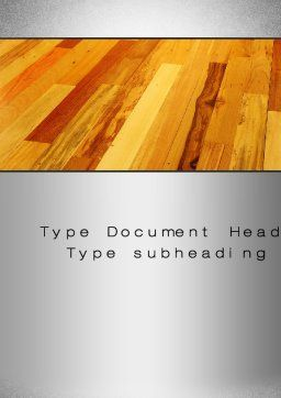 Parquet Word Template, Cover Page, 10069, Construction — PoweredTemplate.com