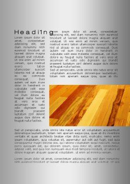 Parquet Word Template, First Inner Page, 10069, Construction — PoweredTemplate.com