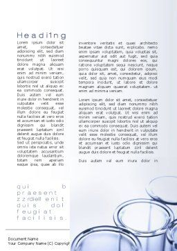 Lab Ware Word Template, First Inner Page, 10070, Technology, Science & Computers — PoweredTemplate.com