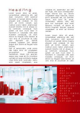 Laboratory Ware Word Template, First Inner Page, 10071, Medical — PoweredTemplate.com