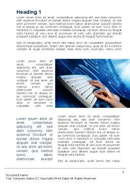 Digits In Line Word Template, First Inner Page, 10072, Technology, Science & Computers — PoweredTemplate.com