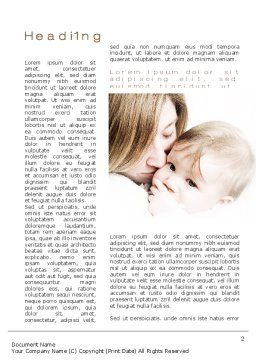 Kiss Your Baby Word Template First Inner Page