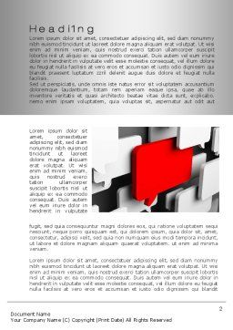 Authoritative Opinion Word Template, First Inner Page, 10077, Technology, Science & Computers — PoweredTemplate.com