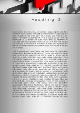 Authoritative Opinion Word Template, Second Inner Page, 10077, Technology, Science & Computers — PoweredTemplate.com