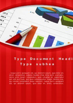 Analytical Work Word Template, Cover Page, 10079, Financial/Accounting — PoweredTemplate.com