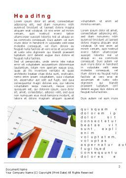 Analytical Work Word Template, First Inner Page, 10079, Financial/Accounting — PoweredTemplate.com