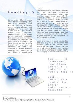 Connect To The Global Knowledge Word Template, First Inner Page, 10085, Technology, Science & Computers — PoweredTemplate.com
