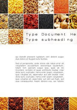 Convenience Foods Word Template, Cover Page, 10087, Agriculture and Animals — PoweredTemplate.com