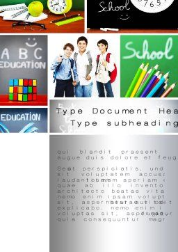 School Friends Back to School Word Template, Cover Page, 10089, Education & Training — PoweredTemplate.com
