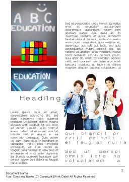 School Friends Back to School Word Template, First Inner Page, 10089, Education & Training — PoweredTemplate.com